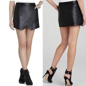 BCBGmaxazria owen faux leather asymmetric skirt